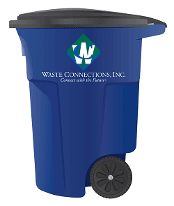 Waste Conncetions Garbage can