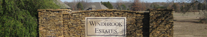Windbrook Estates entrance sign
