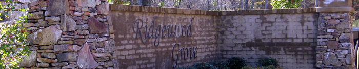 Ridgewood Grove entrance sign