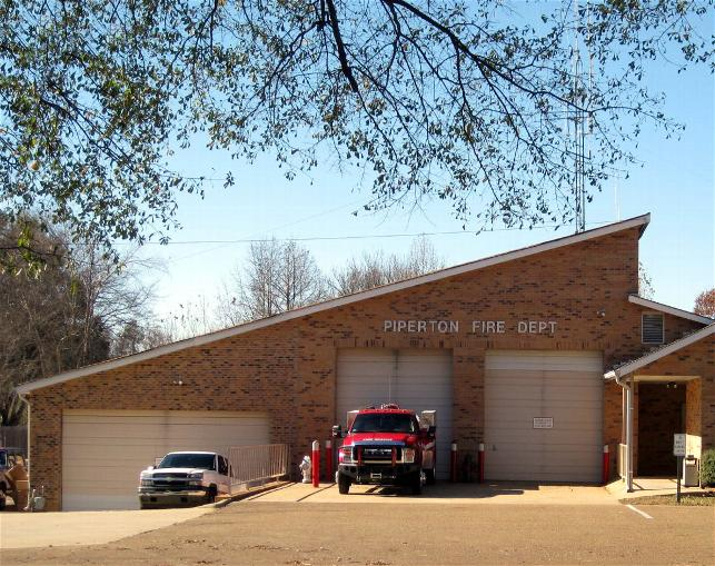 Piperton Fire Department building and garage